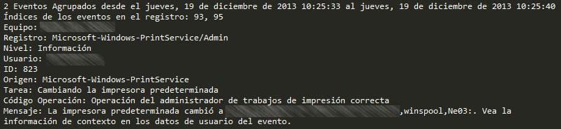 OSC Event Watcher - Eventos Agrupados y Detallados