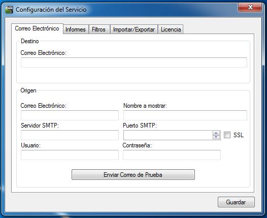 OSC Event Watcher - Configuración de Correo