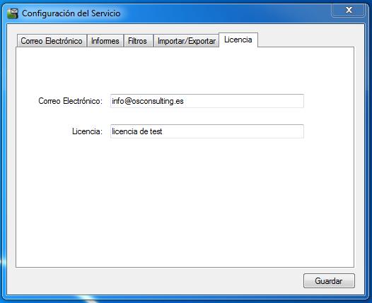 OSC Event Watcher - Configuración de Licencia